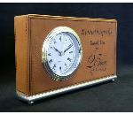 Leatherette Horizontal style Clock